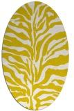 rug #172573 | oval white stripes rug