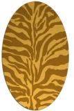 rug #172601 | oval light-orange animal rug