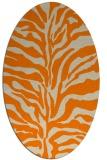 rug #172613 | oval beige animal rug
