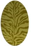 rug #172617 | oval light-green animal rug