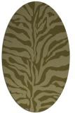 rug #172629 | oval light-green rug