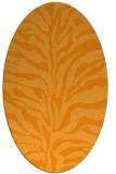 rug #172641 | oval light-orange animal rug