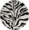 rug #173005 | round white stripes rug