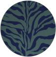 rug #173033   round blue animal rug