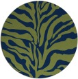 rug #173037 | round blue stripes rug