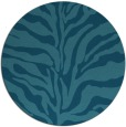 rug #173049 | round blue-green animal rug