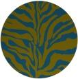 rug #173061 | round blue-green animal rug