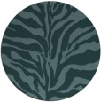 rug #173073 | round blue-green stripes rug