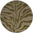 rug #173121 | round mid-brown stripes rug