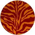 rug #173189 | round orange stripes rug