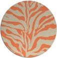 rug #173197 | round beige animal rug