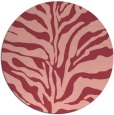 rug #173217 | round pink stripes rug