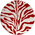 rug #173241 | round red rug