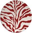 rug #173249 | round red animal rug