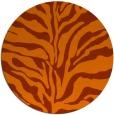 rug #173257 | round red-orange animal rug