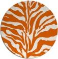 rug #173269 | round red-orange animal rug