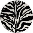 rug #173273 | round white animal rug
