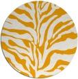 rug #173337 | round light-orange animal rug