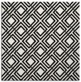 rug #173709 | square white check rug