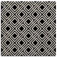rug #173781   square blue-green check rug