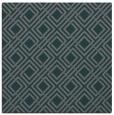 rug #173833 | square blue-green check rug