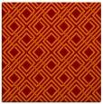 rug #173893 | square orange check rug