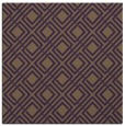 rug #173937 | square mid-brown check rug