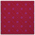 rug #173957 | square red check rug