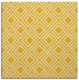 rug #173993 | square yellow check rug