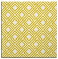 rug #174005 | square yellow check rug