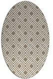 rug #174057 | oval white check rug