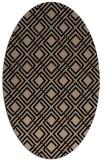 rug #174069 | oval beige check rug