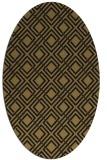 rug #174077 | oval mid-brown rug
