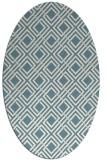 rug #174081 | oval white check rug