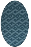 rug #174084 | oval check rug