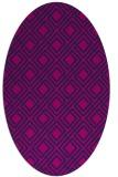 rug #174085 | oval blue check rug