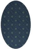 rug #174089 | oval blue check rug