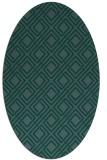 rug #174091 | oval check rug