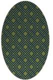 rug #174093 | oval blue check rug