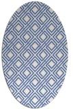 rug #174097 | oval blue check rug