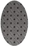 rug #174101 | oval retro rug