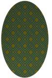 rug #174117 | oval green rug