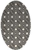 rug #174134   oval check rug