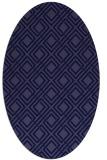 rug #174141 | oval blue-violet check rug