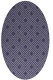 rug #174145 | oval blue-violet check rug