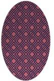 rug #174149 | oval blue-violet check rug