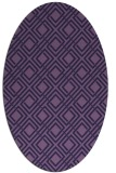 rug #174153 | oval purple geometry rug