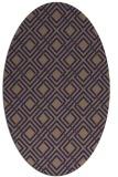 rug #174165 | oval blue-violet check rug
