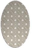 rug #174197 | oval white rug