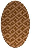 rug #174203 | oval check rug